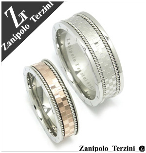 数量限定 Zanipolo Terzini チェッカーロープライン サージカルステンレス ペアリング 7~23号 指輪 ペア 金属アレルギー ペアアクセサリー ザニポロ お揃いペアリング カップル 人気ペアリング プレゼント おしゃれ