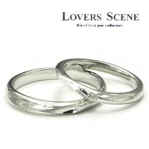 LOVERS SCENE ジョイントハート シルバー ペアリング 7~19号 ダイヤモンド 指輪 ダイアモンド ペアアクセサリー お揃いペアリング カップル 人気ペアリング ブランド プレゼント おしゃれ