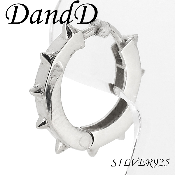 Mens Earring Hoop Silver Earrings 925 Women Shinjuku Collection Spike Hoopsilver Piercing Ear For 1 P Piece