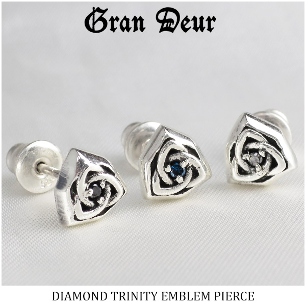 Men S Pierced Earrings Silver Diamond Blue Black Celts 925 Brand Pority Gift Present Boyfriend Man For Grandeur