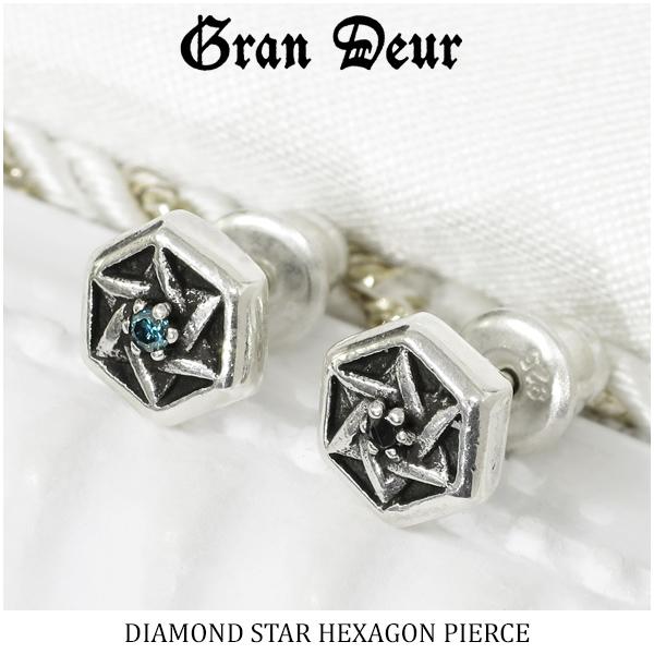 Men S Pierced Earrings Silver Diamond Blue Black Judea 925 Brand Pority Gift Present Boyfriend Man For Grandeur