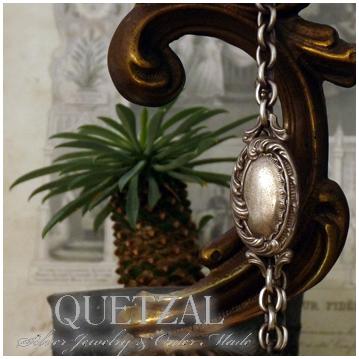 Quetzal ロココブレスレット ブランド シルバーブレスレット ブレスレット シルバー925 メンズ ケツァール ケツアール アンティーク ヴィンテージ クラシック ゴシック アラベスク 唐草 美術 ブレス 腕輪 プレゼント