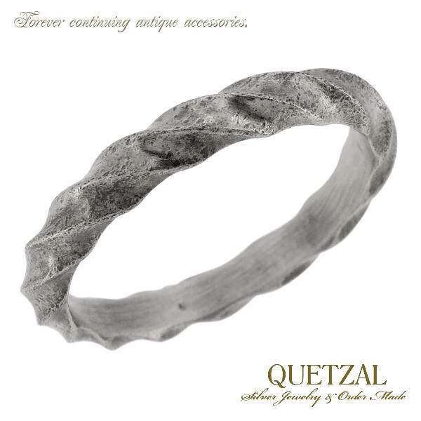 Quetzal ツイストリング シルバーリング 9号~23号 ブランド リング シルバー925 メンズ ケツァール ケツアール アンティーク ヴィンテージ ひねり ねじ ゴシック ロココ 指輪 建築 美術 プレゼント 人気 おしゃれ