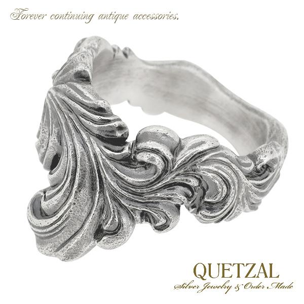 Quetzal ブラーゼンリング シルバーリング 13号~27号 ブランド リング シルバー925 メンズ ケツァール ケツアール アンティーク ヴィンテージ ゴシック ロココ 唐草 アラベスク 指輪 建築 美術 プレゼント 人気 おしゃれ