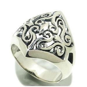 エムズコレクション 透かしアラベスク シルバーリング 7~30号 メンズ 指輪 シルバー925 メンズリング 男性用指輪 M's collection ブランド プレゼント 人気 彼氏 おしゃれ