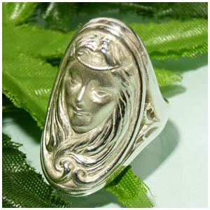 神話 女神デメテル シルバーリング 5~23号 指輪 リング Ringメンズ レディース 男性女性指輪 プレゼント 人気 かわいい おしゃれ