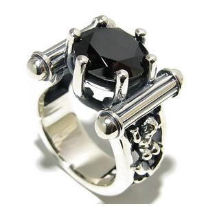 BULLET PEACE ブラックジルコニア エンジェル シルバーリング 9~23号 指輪 リング Ringメンズ レディース 男性女性指輪 ブランド プレゼント 人気 彼氏 かわいい おしゃれ
