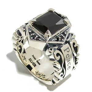 BULLET PEACE ブラックジルコニア アラベスク シルバーリング 9~23号 指輪 リング Ringメンズ レディース 男性女性指輪 ブランド プレゼント 人気 彼氏 かわいい おしゃれ