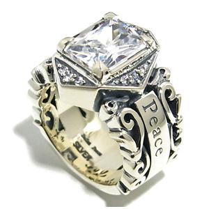 BULLET PEACE キュービックジルコニア アラベスク シルバーリング 9~23号 指輪 リング Ringメンズ レディース 男性女性指輪 ブランド プレゼント 人気 彼氏 かわいい おしゃれ