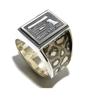 BULLET PEACE バレットパンサー シルバーリング 9~23号 指輪 リング Ringメンズ レディース 男性女性指輪 ブランド プレゼント 人気 彼氏 かわいい おしゃれ