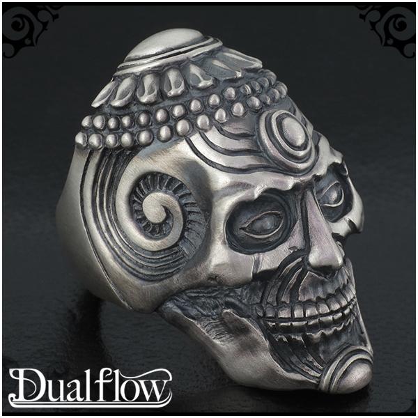 Dualflow revere skull シルバーリング 9~28号 スカル メンズ リング シルバー ブランド シルバー925 男性 指輪 ドクロ ガイコツ デュアルフロウ スカルリング プレゼント 人気 彼氏 おしゃれ