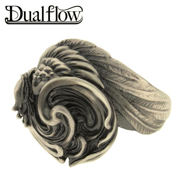 Dualflow 輪廻 鳳凰 シルバーリング 9~28号 メンズ リング シルバー ブランド シルバー925 男性 指輪 鳥 和風 和柄 デュアルフロウ プレゼント 人気 彼氏 おしゃれ
