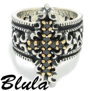 Blula ブラック クロス シルバーリング 12~29号 メンズ リング ハードリング 925 男性用 指輪 メンズリング 男性用指輪 ブランド プレゼント 人気 彼氏 おしゃれ