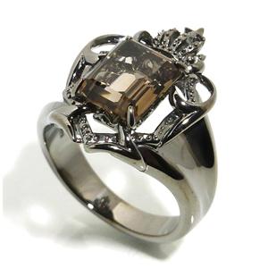 AVALON スモーキークォーツ シールド ブラック シルバーリング 17~23号 メンズ リング シルバー シルバー925 シルバーアクセサリー 男性 指輪 エンブレム 盾 メンズリング 男性用指輪 ブランド プレゼント 人気 彼氏 おしゃれ