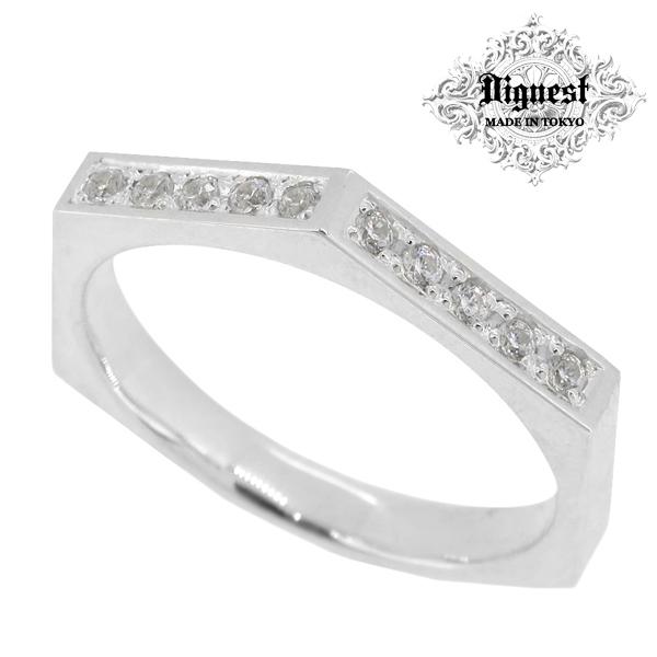 Dignest Hexagon Light シルバー リング 7~19号 ディグニスト ヘキサゴン 六角形 ライト 光 ジルコニア ポリゴン 無限 シルバー925 指輪 メンズ Infinity Line メンズリング 男性用指輪 ブランド プレゼント 人気 彼氏 おしゃれ