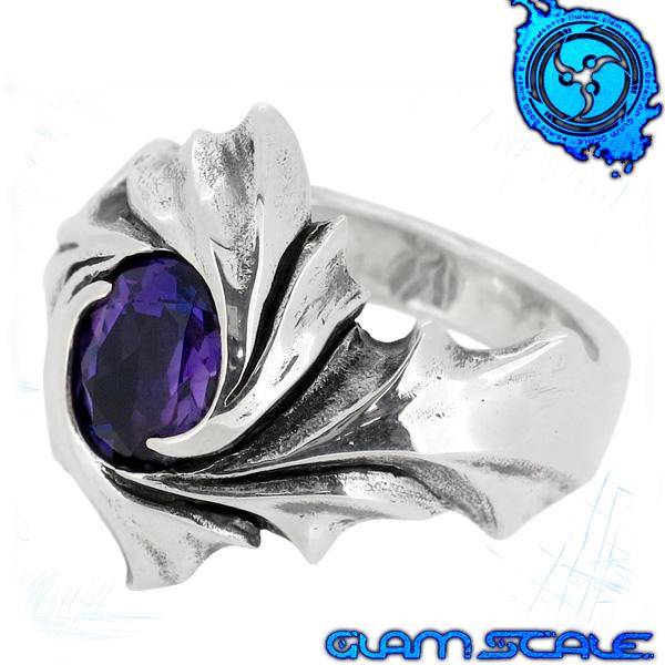 GLAM SCALE ER-010AM イヴォルバー シルバー リング 7~21号 アメジスト シルバー925 指輪 メンズ er010am メンズリング 男性用指輪 グラムスケイル ブランド プレゼント 人気 彼氏 おしゃれ