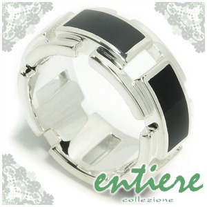 entiere オニキスプレート シルバーリング 14~18号 シルバー925メンズ リング 男性用 銀指輪 onyx メンズリング 男性用指輪 ブランド プレゼント 人気 彼氏 おしゃれ