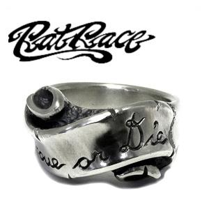 RAT RACE ラットレース メッセージオンリボン ナロー シルバーリング 7~30号 リング メンズ リボン シルバー925 男性用 指輪 銀 メンズリング 男性用指輪 ブランド プレゼント 人気 彼氏 おしゃれ