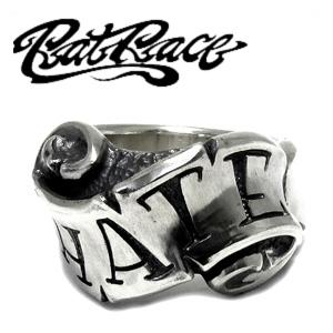 RAT RACE ラットレース メッセージオンリボン ヘイト シルバーリング 4~30号 リング メンズ リボン シルバー925 男性用 指輪 銀 メンズリング 男性用指輪 ブランド プレゼント 人気 彼氏 おしゃれ