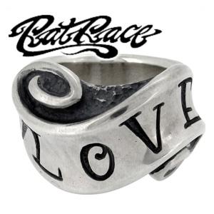 RAT RACE ラットレース メッセージオンリボン ラブ シルバーリング 7~30号 シルバーアクセサリー メンズ リング 男性用 指輪 シルバー925 SILVER メンズリング 男性用指輪 ブランド プレゼント 人気 彼氏 おしゃれ