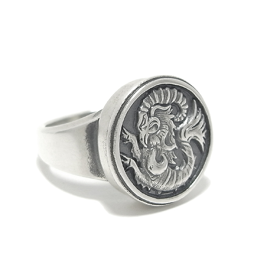 ★ Castle of Cagliostro and Lupin 3 ★ Clarice silver ring No. 12-30 / silver / men's / 925 Silver / SILVER / Men's Ring / male rings /Magische Vissen / Lupin III/III / goat coat of arms.