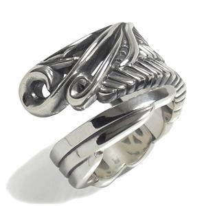 エムズコレクション スモールライトウィング シルバーリング 5~22号 925 銀の蔵 レディース リング 女性用 指輪 翼 レディースリング レディース指輪 M's collection ブランド プレゼント 人気 かわいい おしゃれ
