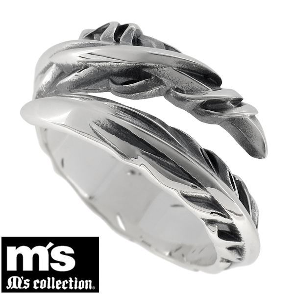 036a21436e4dc Small feather silver ring No. 9-27 Mens Ring silver hard Silver 925 SILVER  Mens Ring men ring yubiwa wings wings wings native free Silver collection