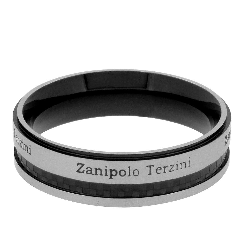 メンズ セール リング ステンレス サージカルステンレス 金属アレルギー 指輪 ブラックZanipolo Terzini ザニポロタルツィーニシッククールな黒のラインリング チェックパターン 13~21号 人気 男性用指輪 おしゃれ 入荷予定 男性 Zanipolo メンズリング ザニポロ プレゼント ライン