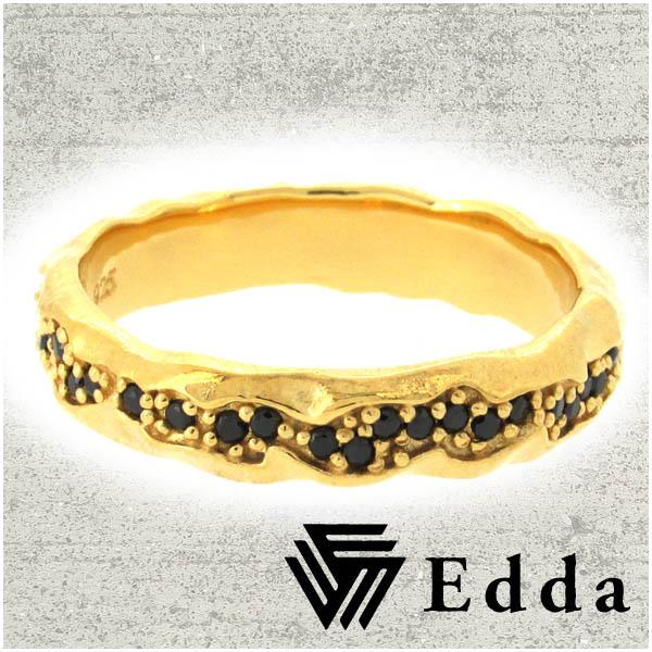 Edda エッダ ゴールド ブラック シルバー リング 17~25号 シルバーアクセサリー メンズ 男性用 指輪 シルバー925 ジルコニア CZ ブランド ギフト プレゼント メンズリング メンズ指輪 人気 彼氏 おしゃれ