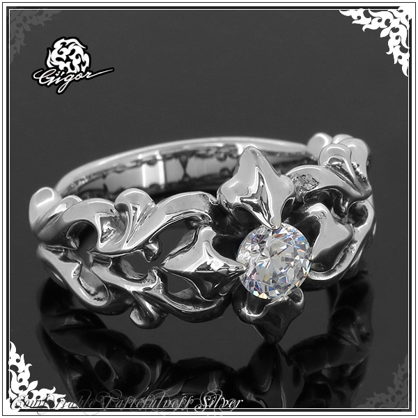 GIGOR ジゴロウ フィクルス シルバー リング 1~25号 シルバー925 メンズ ブランド ジルコニア 男性 指輪 アクセサリー GARDEN series フィクルスリング メンズリング 男性用指輪 プレゼント 人気 彼氏 おしゃれ