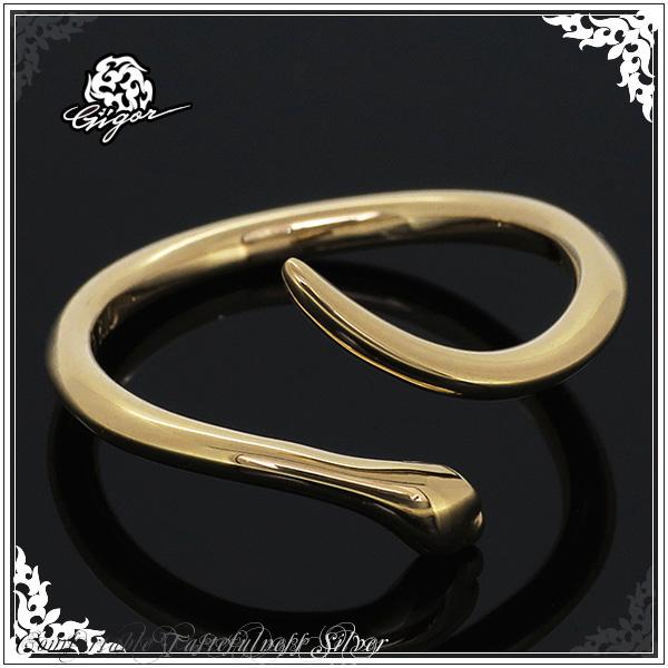 GIGOR ジゴロウ ピンキースネイブ K10 イエローゴールド リング 1~15号 ゴールド 10金 メンズ レディース ブランド ピンキーリング 蛇 ヘビ 指輪 SNAVI series メンズリング 男性用指輪 プレゼント 人気 彼氏 おしゃれ