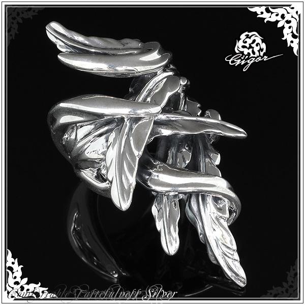 GIGOR ジゴロウ エル シルバー リング 7~25号 シルバー925 シルバーリング メンズ レディース ブランド 羽 翼 指輪 AILE series エルリング メンズリング 男性用指輪 プレゼント 人気 彼氏 おしゃれ