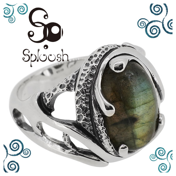 Sploosh R-48 リング 12~17号 ラブラドライト 天然石 メンズ アクセサリー 男性用 指輪 メンズリング 男性用指輪 スプルーシュ ブランド プレゼント 人気 彼氏 おしゃれ