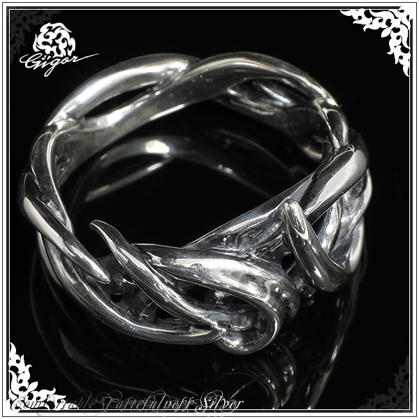 GIGOR ジゴロウ ドレスターリング シルバー リング 7~25号 シルバー925 シルバーリング メンズ レディース ブランド タングラム 曲線 ライン 指輪 TANGLAM series メンズリング 男性用指輪 プレゼント 人気 彼氏 おしゃれ