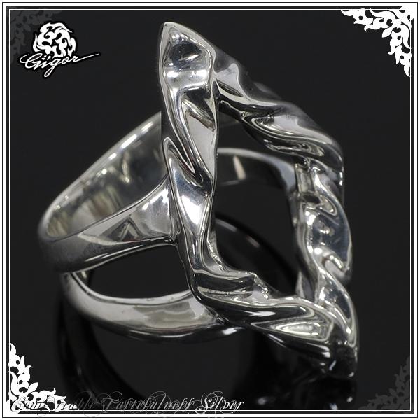 GIGOR ジゴロウ ダイラリング シルバー リング 7~25号 シルバー925 シルバーリング メンズ レディース ブランド スカーリス 曲線 菱形 ひし形 指輪 SCALIES series メンズリング 男性用指輪 プレゼント 人気 彼氏 おしゃれ