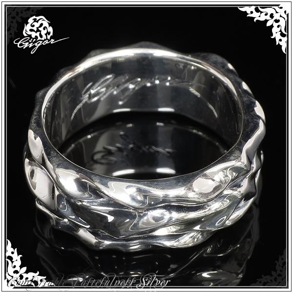 GIGOR ジゴロウ ラリットリング シルバー リング 7~25号 シルバー925 シルバーリング メンズ レディース ブランド スカーリス 曲線 うねり 鏡面 指輪 SCALIES series メンズリング 男性用指輪 プレゼント 人気 彼氏 おしゃれ