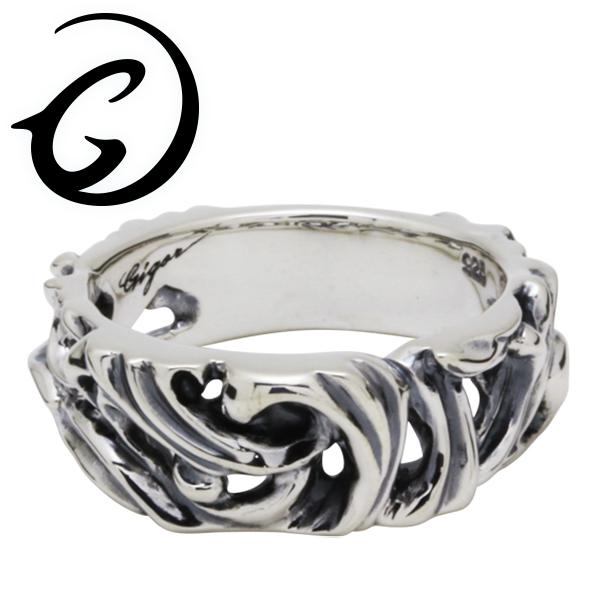 GIGOR ジゴロウ シルバー フレッジリング 7号~25号 シルバー925 メンズ レディース ブランド シルバーリング 透かし アラベスク レリーフ 脈 シンプル 指輪 G-DIAN series ジーディアンシリーズ メンズリング 男性用指輪 プレゼント 人気 彼氏 おしゃれ