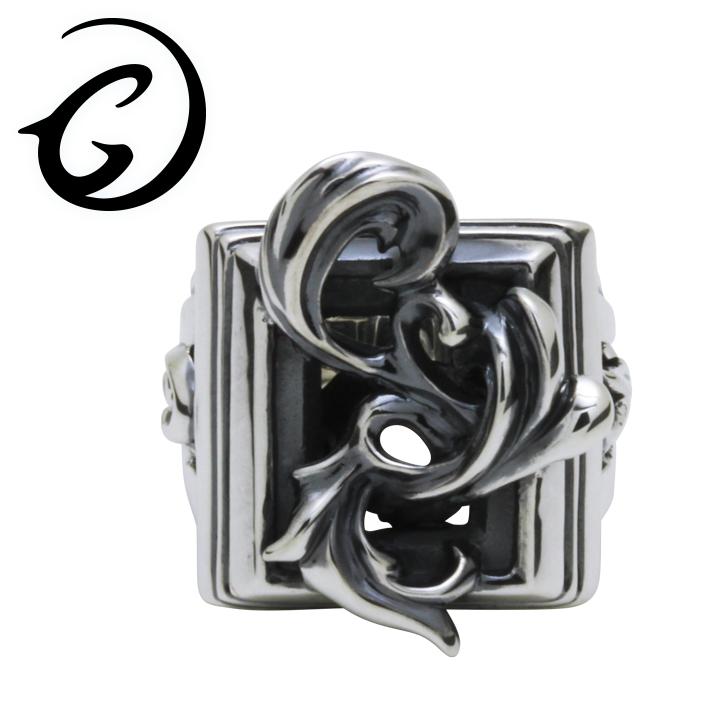 GIGOR ジゴロウ シルバー フレアフレッジリング 7号~25号 シルバー925 メンズ レディース ブランド シルバーリング 透かし アラベスク レリーフ 脈 シンプル 指輪 G-DIAN series ジーディアンシリーズ メンズリング 男性用指輪 プレゼント 人気 彼氏 おしゃれ