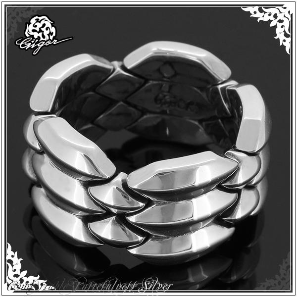 GIGOR ジゴロウ ジオメトリックリング シルバーリング 10号 16号 22号 シルバーアクセサリー シルバー925 銀 メンズ レディース ブランド 指輪 幾何学 シンプル ギミック シャープ GEOMETRIC series 男性 プレゼント 人気 彼氏 おしゃれ