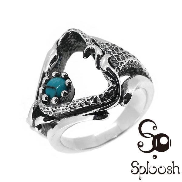 Sploosh R-45リング10~18号 ターコイズ トルコ石 リング メンズ アクセサリー 男性用 指輪 メンズリング 男性用指輪 スプルーシュ ブランド プレゼント 人気 彼氏 おしゃれ