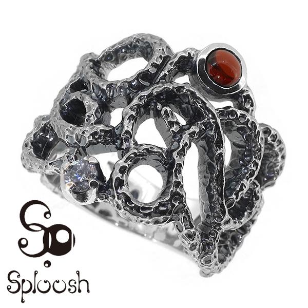 Sploosh R-63リング15~23号 ガーネット ジルコニア リング メンズ アクセサリー 男性用 指輪 メンズリング 男性用指輪 スプルーシュ ブランド プレゼント 人気 彼氏 おしゃれ
