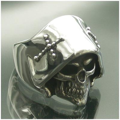 Catalonia 死神 デス スカル シルバーリング 11~27号 スカルリング ドクロ 骸骨 グリムリーパー メンズ リング 男性用 指輪 銀の蔵 メンズリング 男性用指輪 ブランド プレゼント 人気 彼氏 おしゃれ