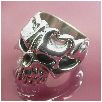 Catalonia デーモンスカル シルバーリング 11~27号 スカルリング ドクロ 骸骨 メンズ リング 男性用 指輪 悪魔 銀の蔵 メンズリング 男性用指輪 ブランド プレゼント 人気 彼氏 おしゃれ