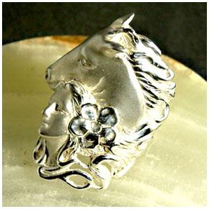 馬と少女の シルバーリング 7~23号 指輪 リング Ringメンズ レディース 男性女性指輪 プレゼント 人気 かわいい おしゃれ