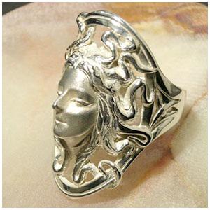 神話 大地の女神メドゥーサ シルバーリング 7~23号 シルバー リング メンズ レディース シルバー925 男性 女性 指輪 女神 メデューサ ブランド プレゼント メンズリング 男性用指輪 人気 彼女 かわいい おしゃれ