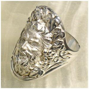 酒の神バッカス リング 7号~23号 指輪 Ringメンズ レディース 男性女性指輪 プレゼント 人気 かわいい おしゃれ