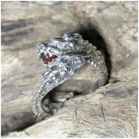 双頭の龍リング カーネリアン 9号~17号 指輪 リング Ringメンズ レディース 男性女性指輪 プレゼント 人気 かわいい おしゃれ