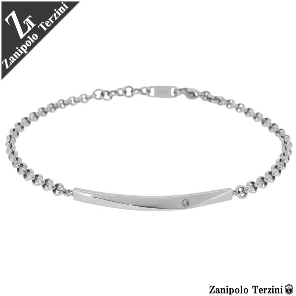 Zanipolo Terzini Zanipolotartzini Diamond Plate Chain Surgical Stainless Steel Bracelet