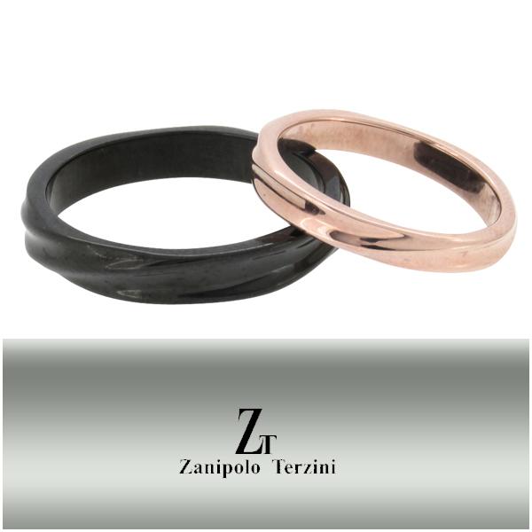 ザニポロタルツィーニ ツイストライン サージカルステンレス ペア リング 5~20号 ステンレス アクセサリー メンズ レディース お揃い 指輪 金属アレルギー アレルギーフリー プレゼント ギフト Zanipolo Terzini ブランド カップル 人気 おしゃれ
