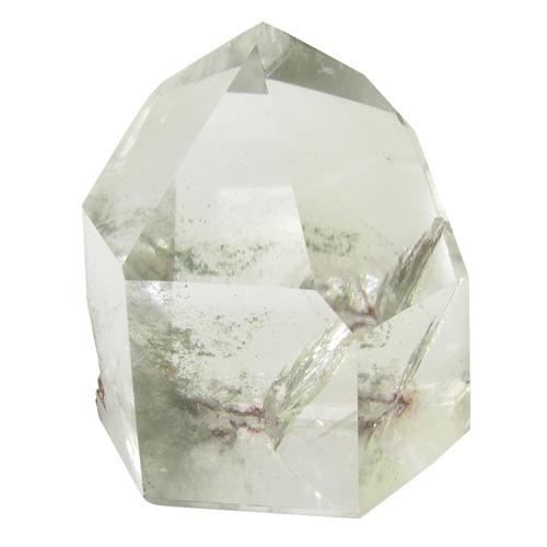 高品質 水晶ポイント 約219g 天然石 パワーストーン 天然水晶 ポイント 原石 置物 水晶 ファントムクォーツ グリーンファントム プレゼント 人気